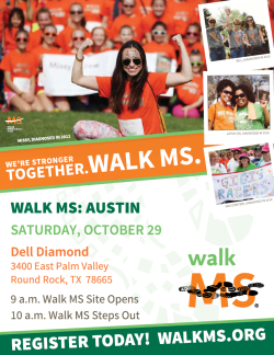 2016 Walk MS: Austin - Save the Date!